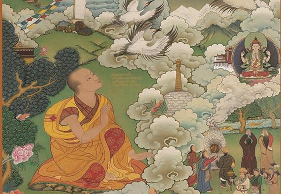 Thangka-Serie zu Canyang Gyatsos Gedichten wird in Lhasa ausgestellt