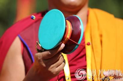 """Tibetisch-buddhistisches Instrument """"Damaru"""""""