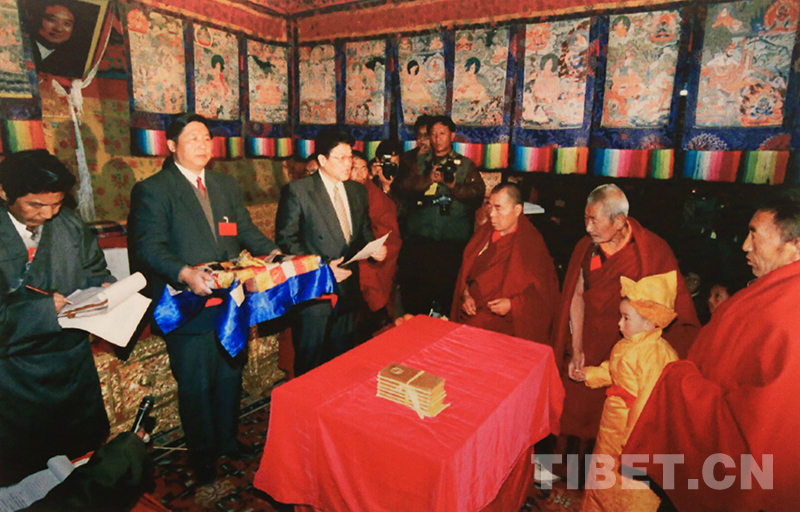 Old photos: the reincarnation of the 10th Panchen Lama