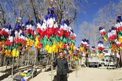 藏历新年近了 五彩经幡祈福
