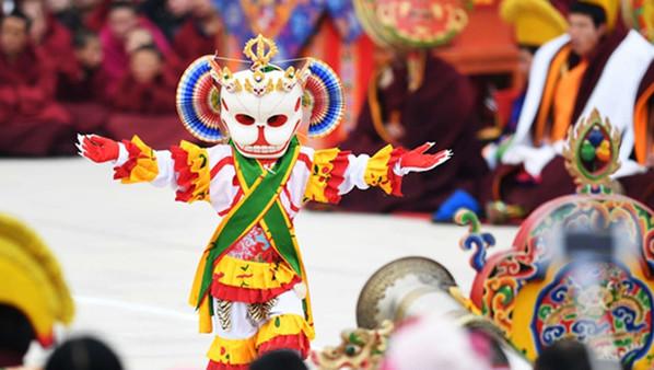 Kloster Labrang: Ritual im ersten Monat endet mit der Pilger-Zeremonie