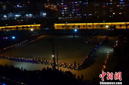 Lampiondrehen-Festival in Gannan
