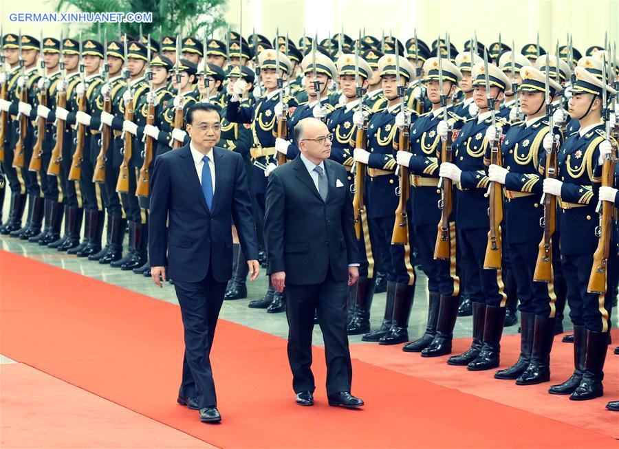Li Keqiang trifft französischen Premierminister