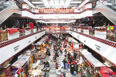 Tibetan residents busy purchasing for Losar