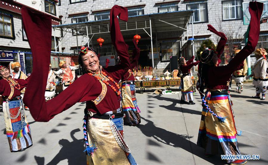 Tibetan New Year markd in China's Tibet
