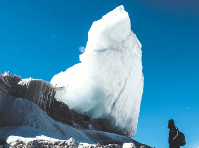 西藏岗布冰川,壮美!
