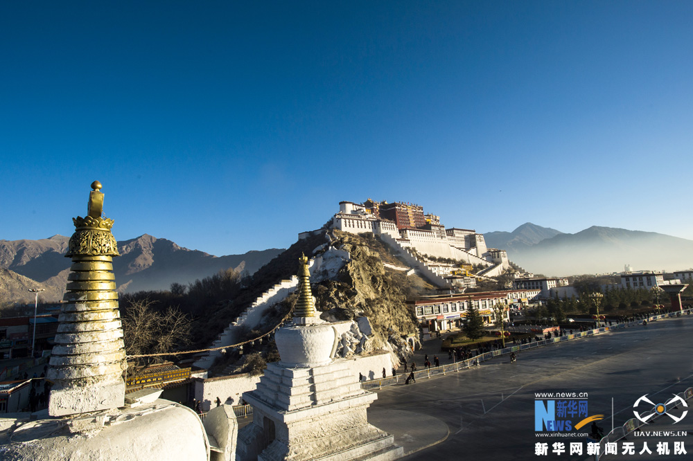 Aerial photos of the Potala Palace