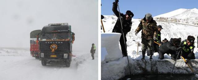 Tibet kämpft gegen Schneekatastrophe