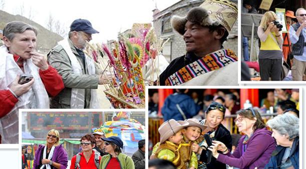 Ausländische Touristen in Tibet