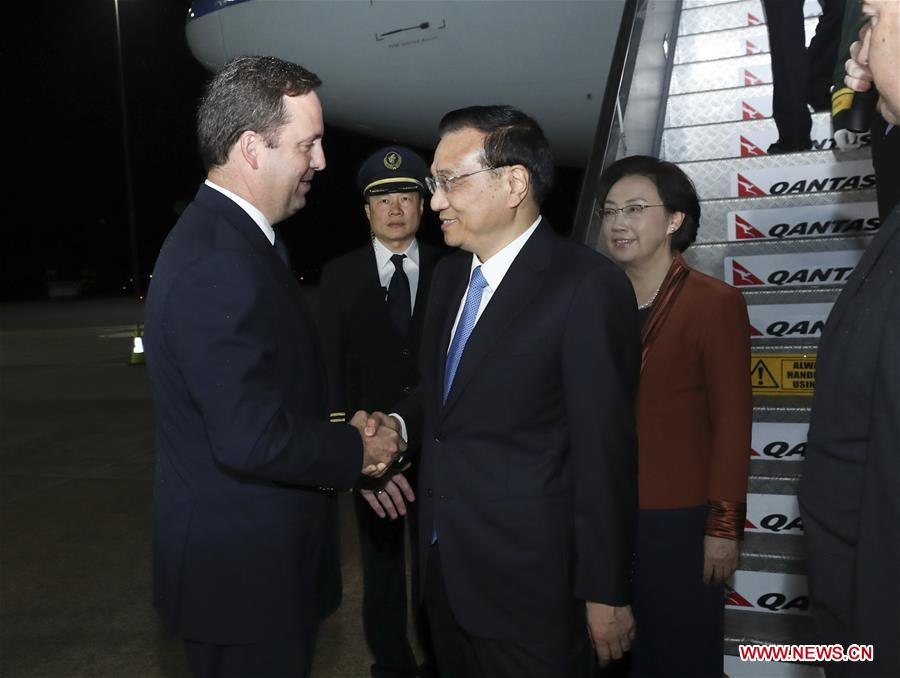 Chinese premier arrives in Australia for official visit