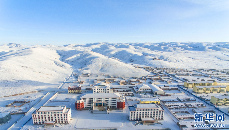 Aerial photos of Spring snow scenery in Madoi County, Qinghai
