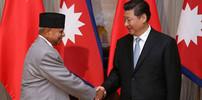 Xi Jinping trifft Nepals Ministerpräsidenten