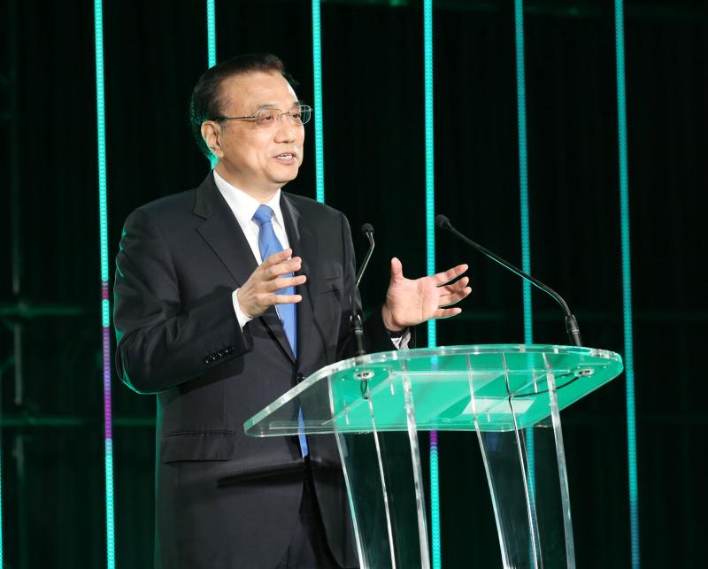 李克强在新西兰各界欢迎宴会上发表演讲