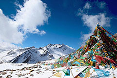 Late Spring snow scenery of Lhoka, Tibet