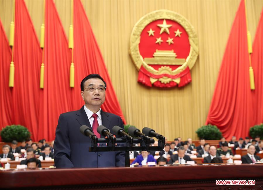 Premier Li Keqiang delivers gov't work report