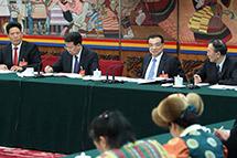 李克强参加西藏代表团审议