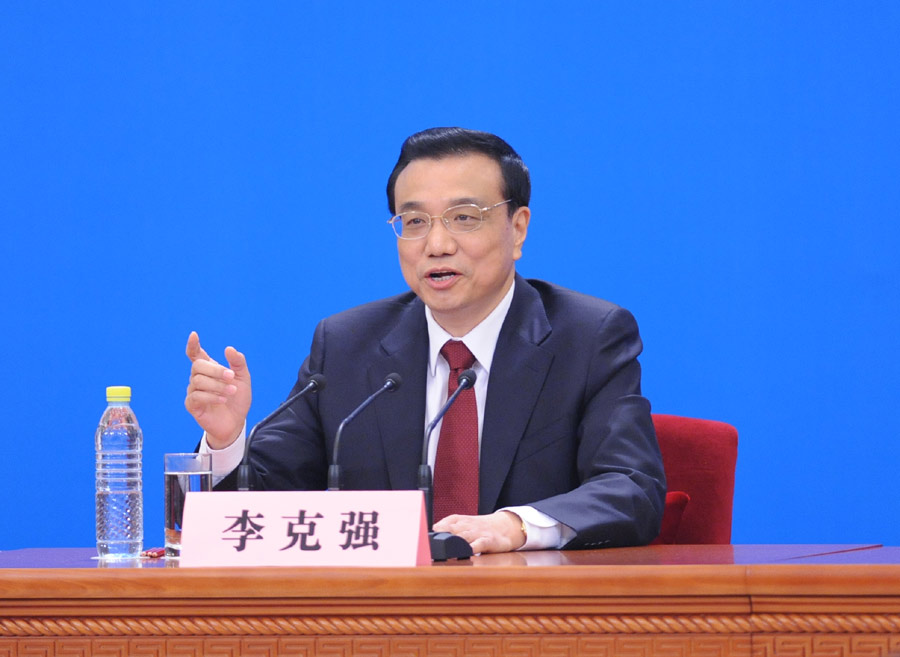 Premier Li vows clean governance, crackdown on financial corruption