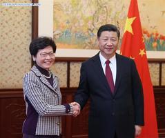 Xi Jinping trifft Lam Cheng Yuet-ngor in Beijing