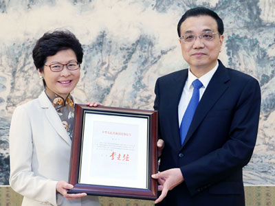 Chefadministratorin Hongkongs ernannt