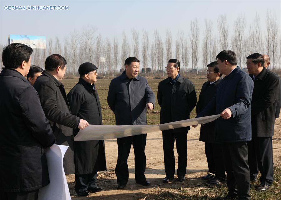 Xi Jinping inspiziert Xiongan New Area in Hebei