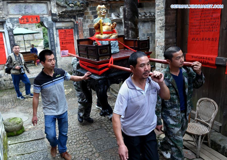 Jährliches Landwirtschaftskulturfestival im Dorf Peitian in Fujian
