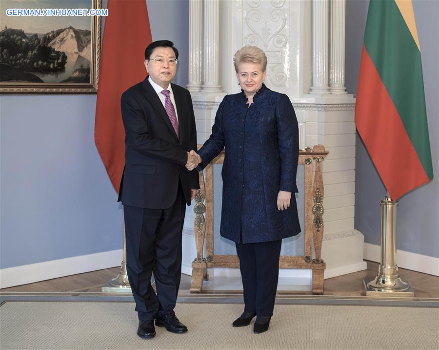 Zhang Dejiang stattet Litauen einen Freundschafsbesuch ab