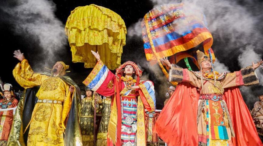 藏文化史诗剧《文成公主》拉萨河畔再度开演