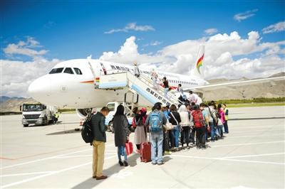 西藏民航客货运量保持增长