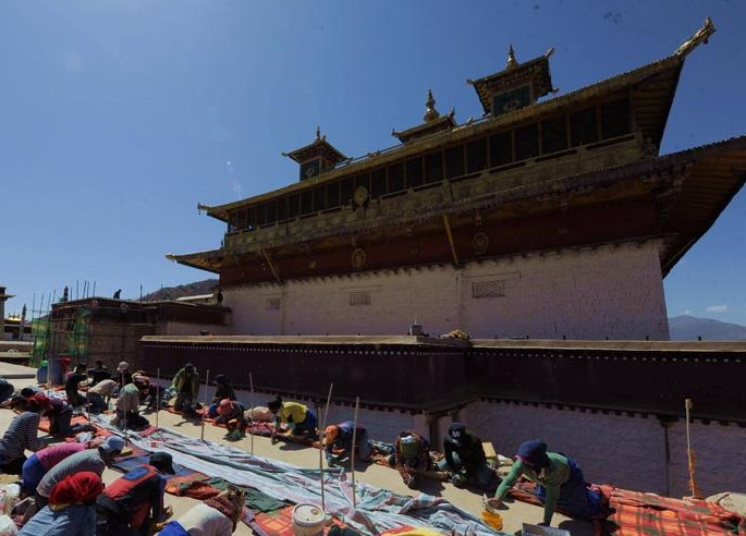 Wartungsarbeiten am Samye-Kloster fast abgeschlossen