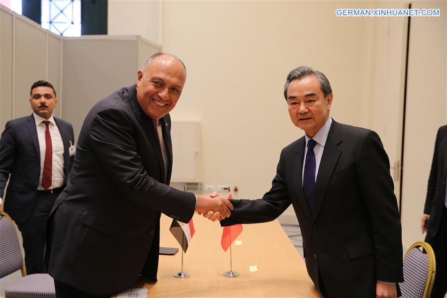 Wang Yi trifft ägyptischen Amtskollegen am Rande des Forums für Antike Zivilisation in Athen