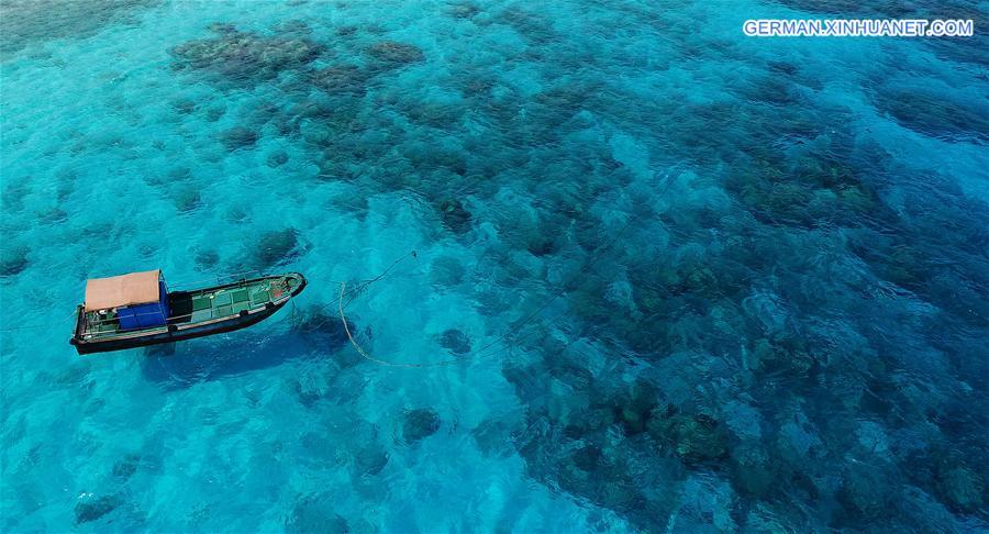 Bezaubernde Landschaft der Xisha Inseln