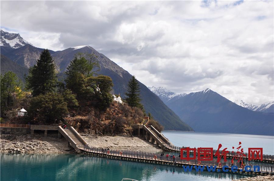 Schöne Landschaft am Basongcuo