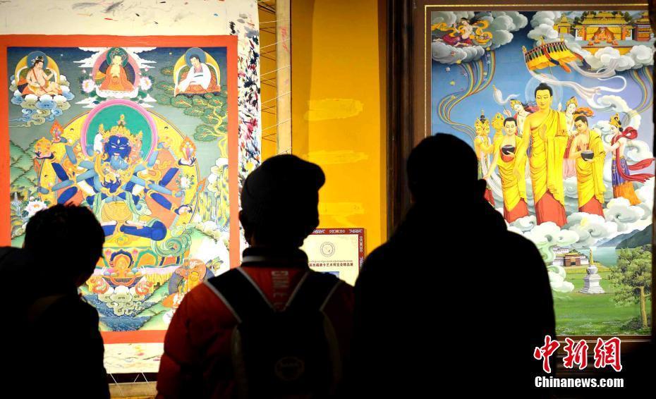 尼泊尔展出中国西藏唐卡