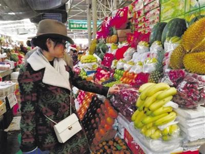 Obst der Saison auf dem Markt
