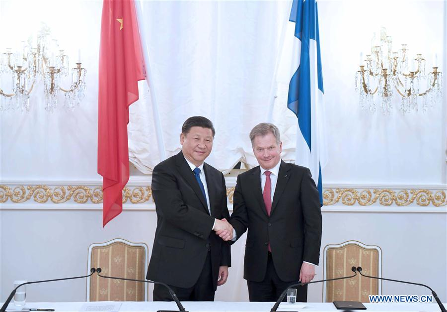 China, Finland agree to advance ties, deepen cooperation