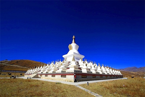 Weißer Stupa – Symbol Tibets