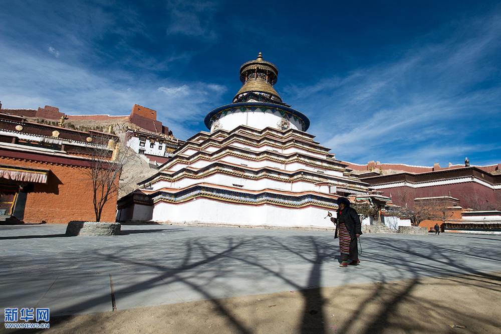 Aerial photos of Palkhor Chode Monastery