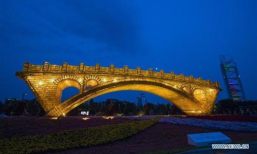 """""""Goldene Brücke der Seidenstraße"""" in Beijing gebaut"""
