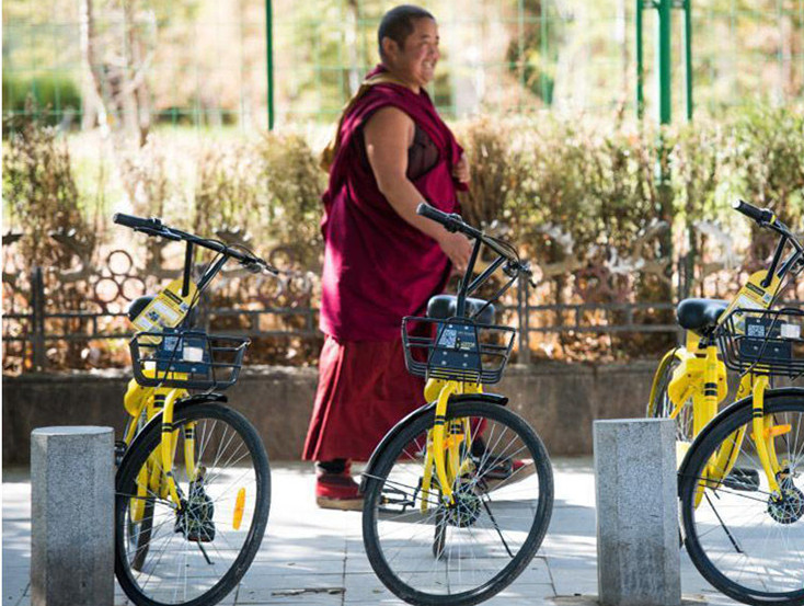 Tibet bekommt Gemeinschaftsfahrräder