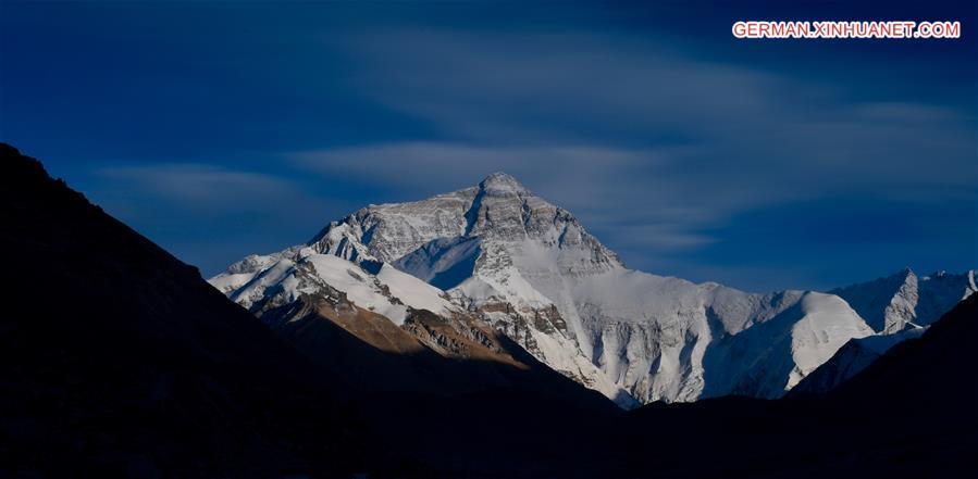 Ein Blick auf den höchsten Gipfel der Welt