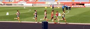 Tibetische Athleten bei Qualifizierungs-Spielen