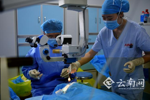 云南省州82名白内障患者重获光明