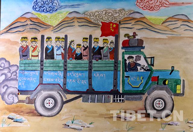 Heimat in den Augen tibetischer Kinder
