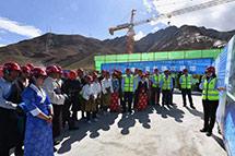 走进西藏非物质文化遗产博物馆项目工地