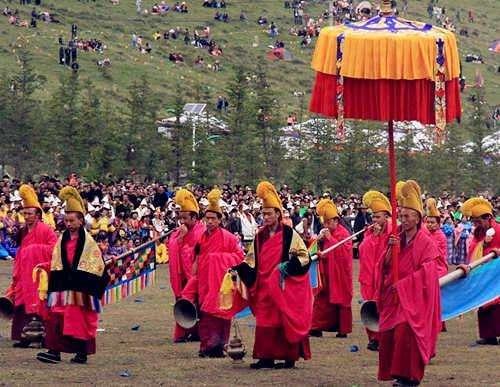 Die Klosterhallen-Band im Labrang-Kloster
