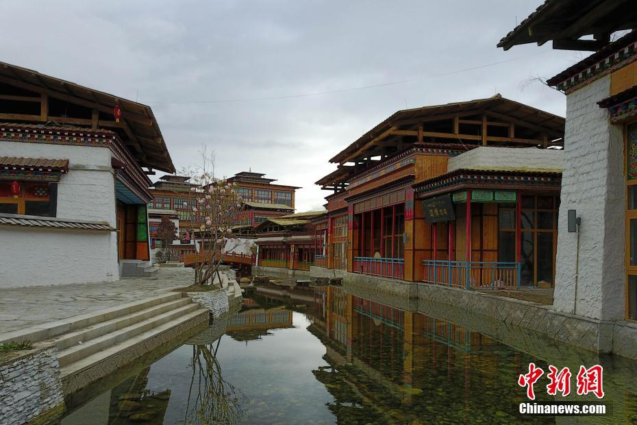 Picturesque early summer scenery in Lulang Town, Nyingchi