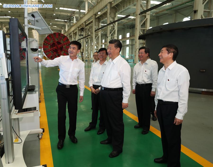 Xi Jinping inspiziert Unternehmen in Shanxi