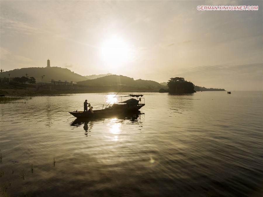 Garnelenfang auf dem Poyang-See