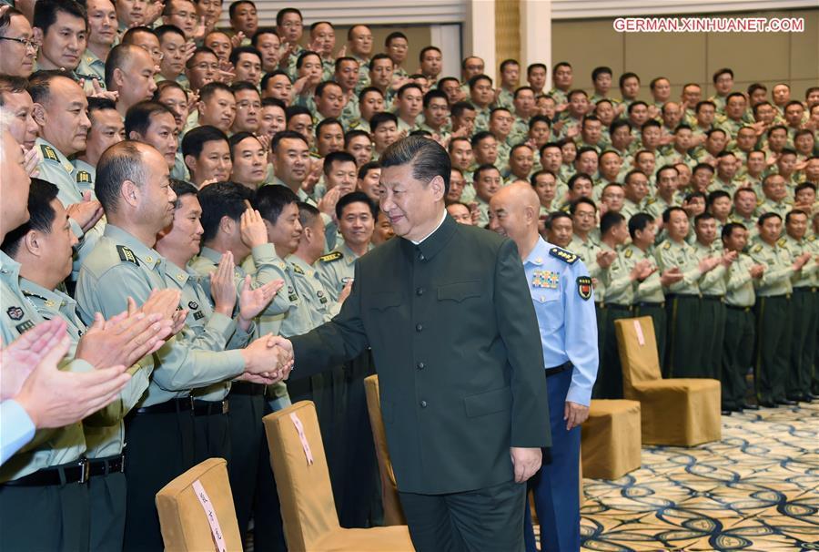 Xi Jinping inspiziert militärische Einheiten in Shanxi