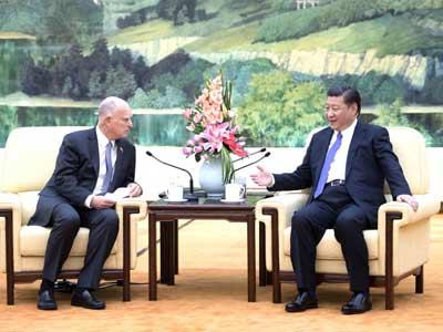 Xi Jinping trifft Gouverneur von Kalifornien